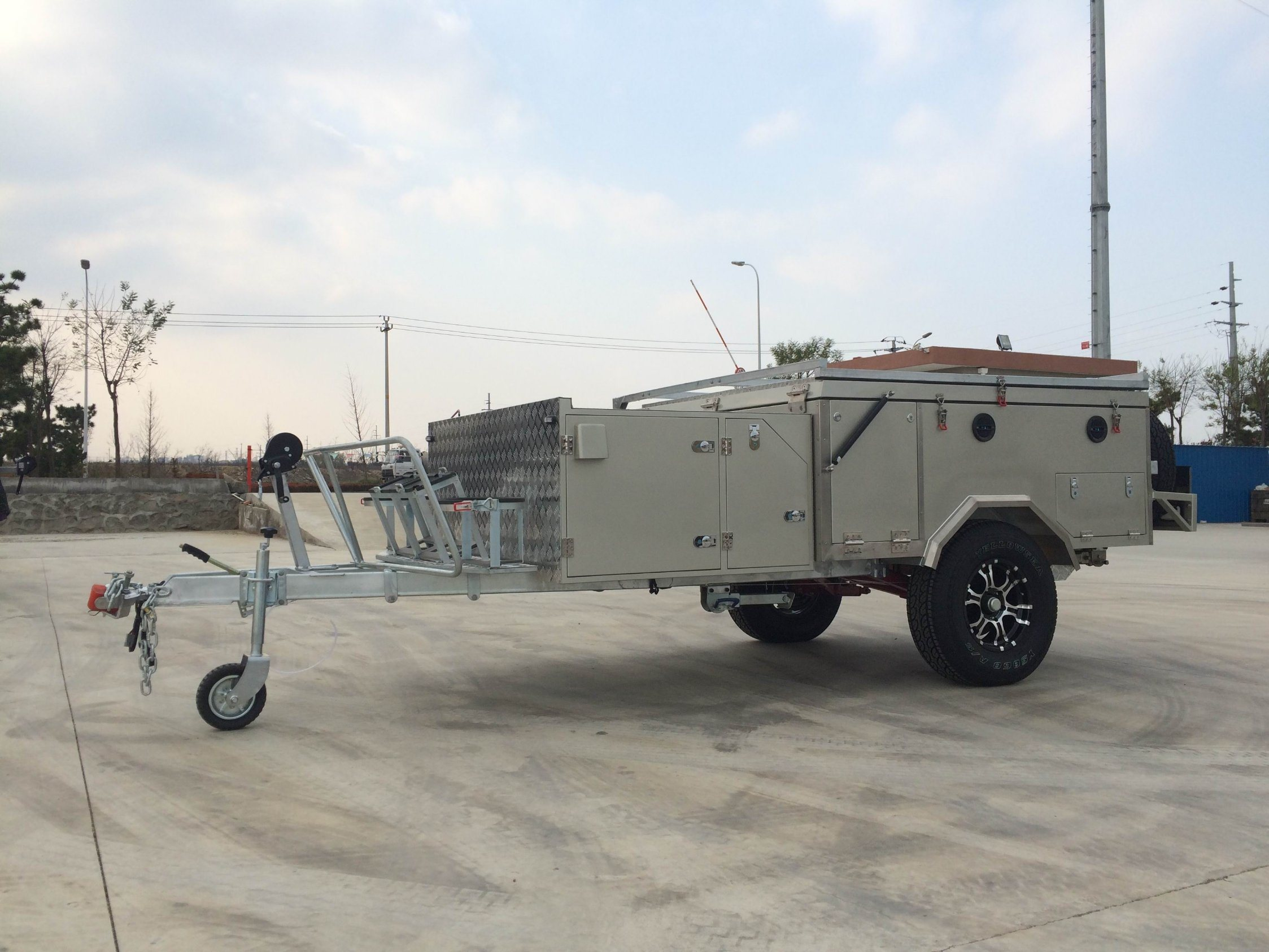 2017 Hot Sales New Front Open Family Used Camper Trailer