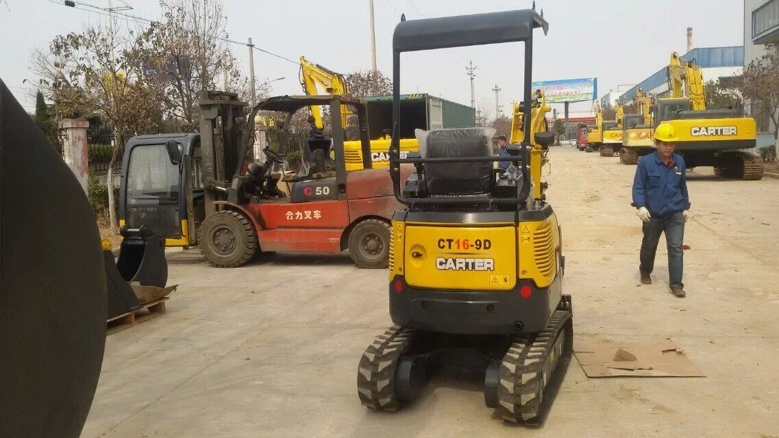 CT16-9b with Retractable Chassis&Rubber Tracks&Swing Boom Mini Excavator pictures & photos