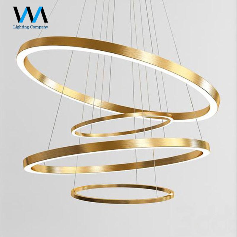 Customized Unique Hanging Round Golden