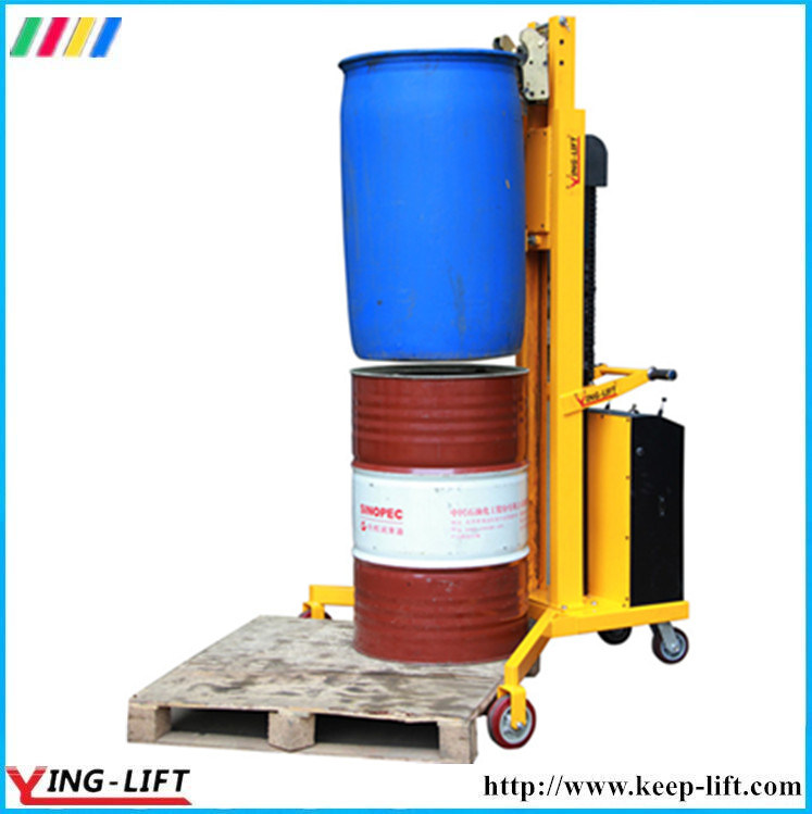 V-Shaped Base Semi Electric Drum Stacker Dt300 pictures & photos