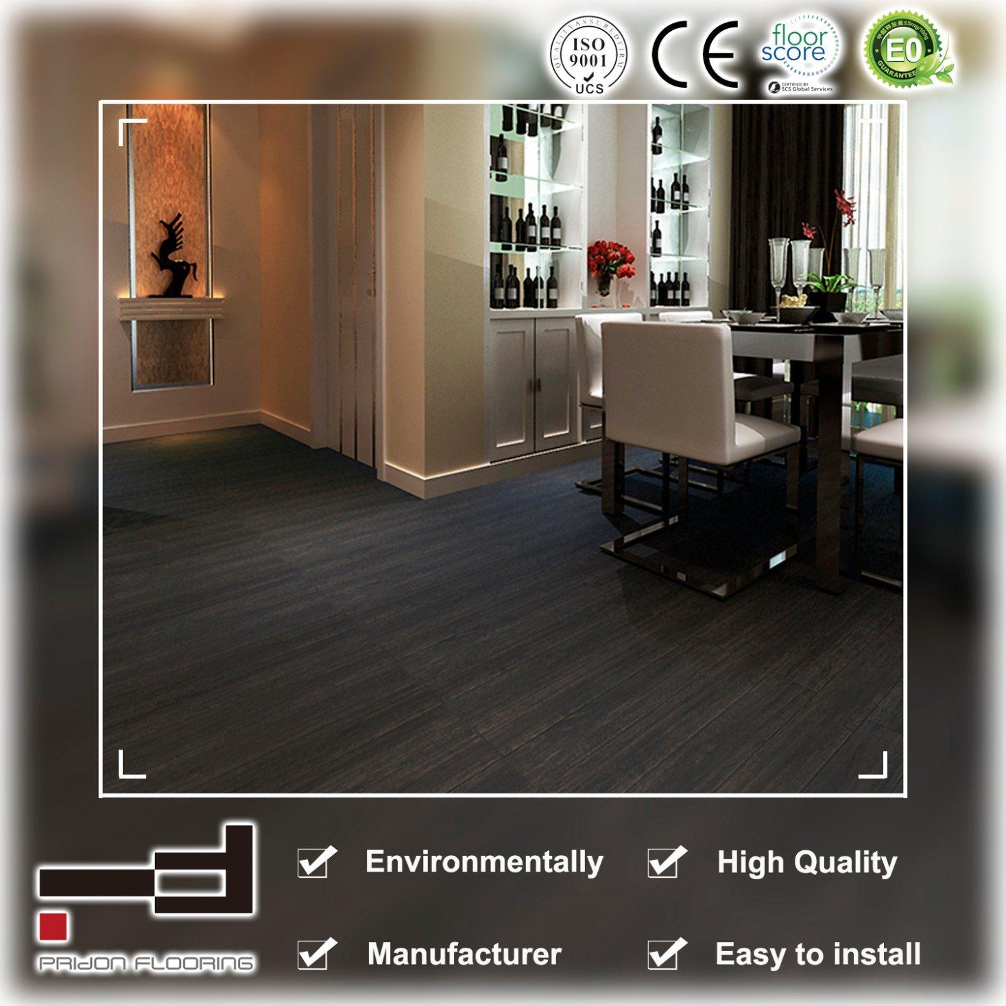 China 12mm Dark Grey Oak Eir Sparking Embossment Laminate Flooring