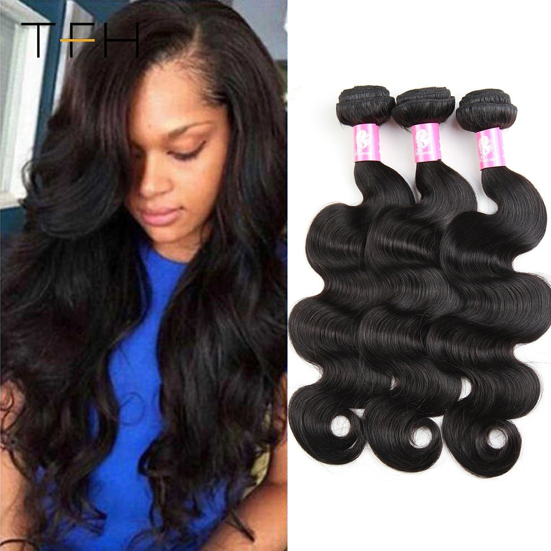 906e7d457b5 [Hot Item] Brazilian Body Wave Hair Extensions Natural Color 100% Remy  Human Hair Weave Bundles