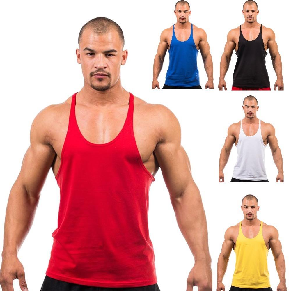 5e19e57a300806 Bulk Wholesale High Quality Custom Cotton and Spandex Plain Mens Muscle Stringer  Vest Tank Top Men