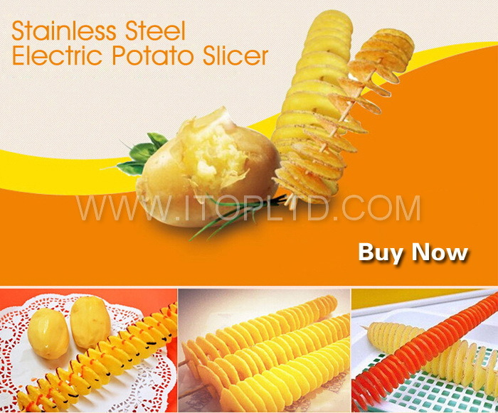 Stainless Steel Electric Potato Slicer (HE02-1) pictures & photos
