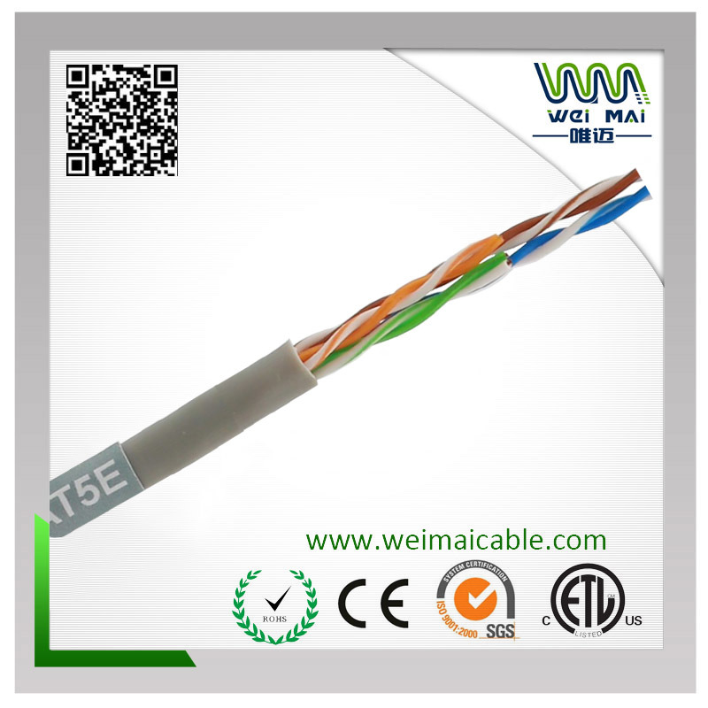 4pair 24AWG Bare Copper UTP Cat5e LAN Cable