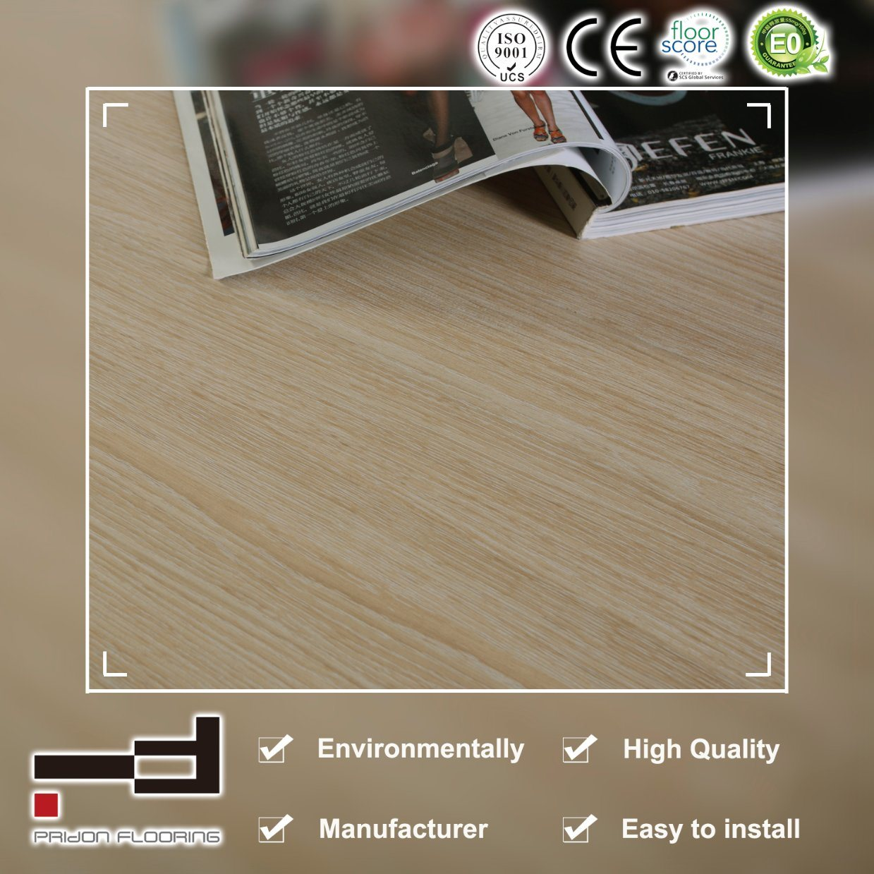 China German Technology Classic Oak Eir Embossment Laminate Floor Flooring Laminated