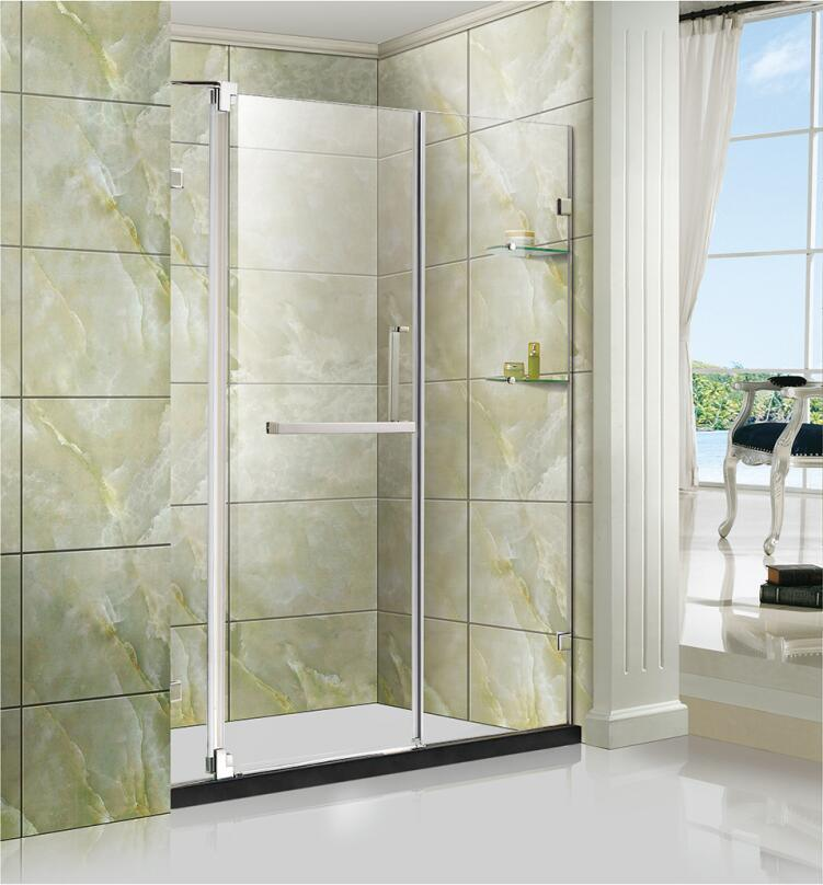 China Bath Room Frameless Glass Shower Door With Ceramic Floor
