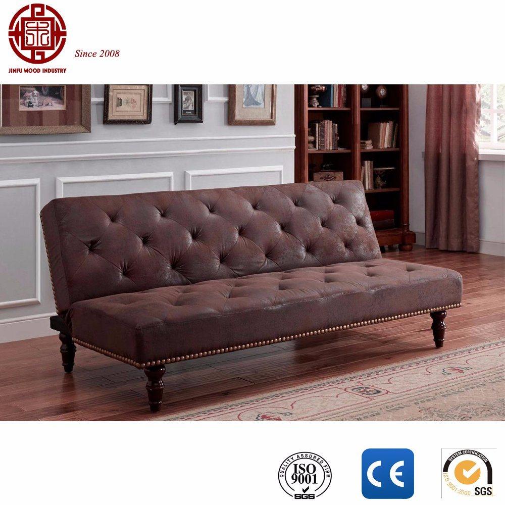 Wine Red Charles Vintage Style Sofa Bed