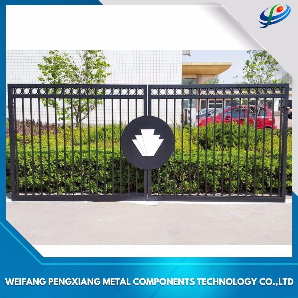 China House Iron Gate Design Steel Sliding Gate Aluminum Fence