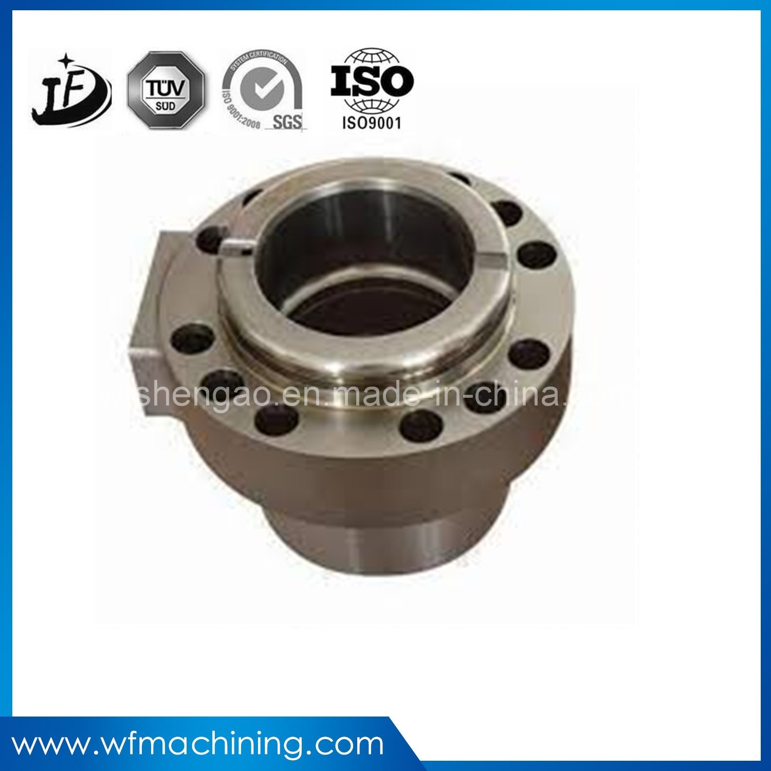 Customized Chrome Plating Steel Precision CNC Machining Forged Steel Product with Casting & Machining pictures & photos