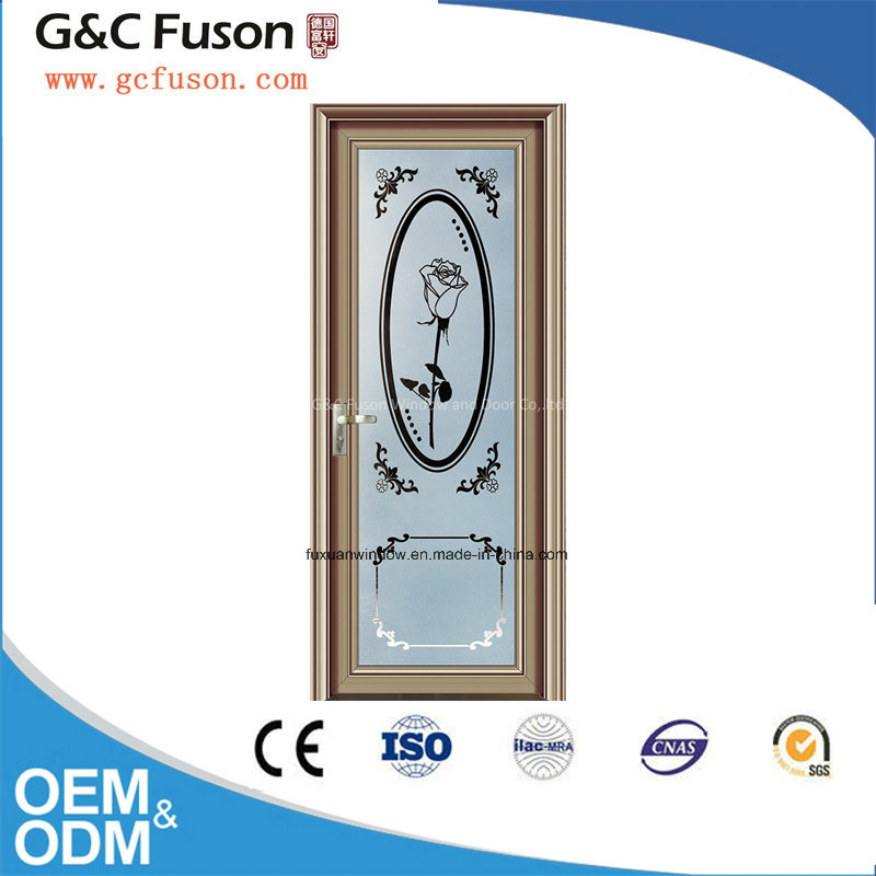 New Design Aluminum Double Tempered Glass Casement Door pictures & photos