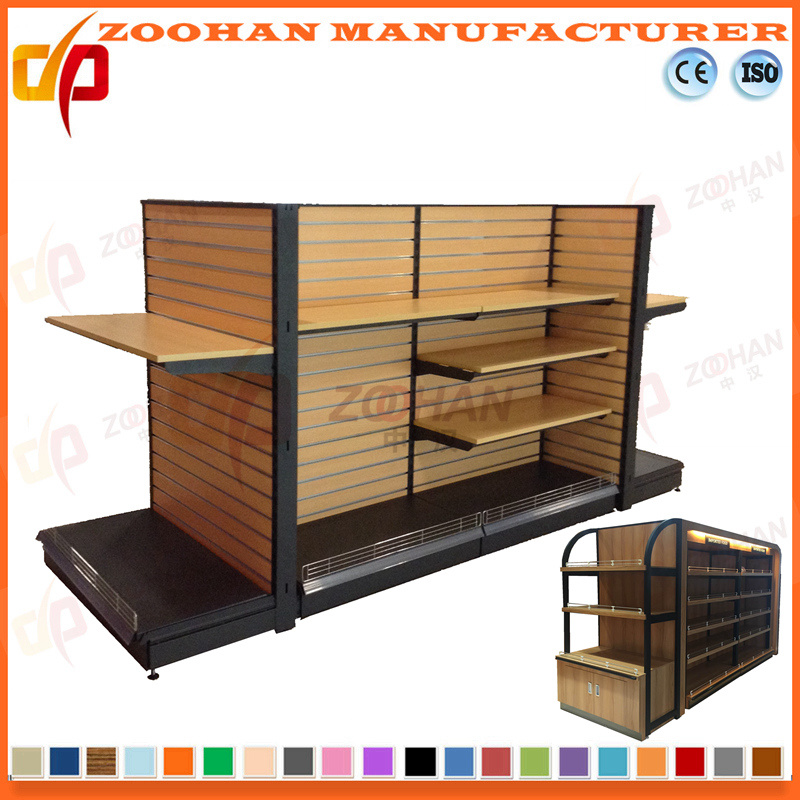 Hot Item New Customized Supermarket Wooden Retail Display Shelving Zhs173