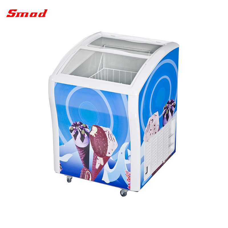 China Supermarket Glass Door Ice Cream Chest Freezer China Freezer