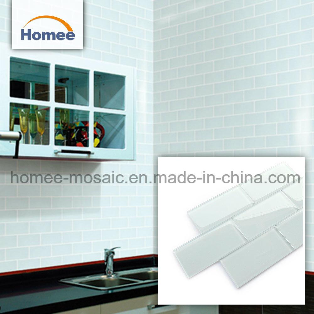 - China Kitchen Backsplash Wall Tile Blue Crystal Glass Mosaic