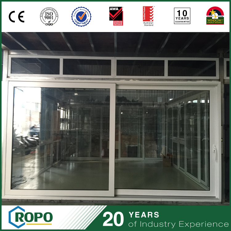 China Plastic Sliding Double Glass Outside Door With Locks China