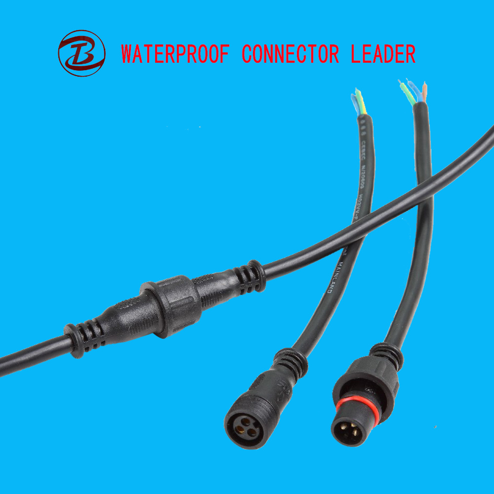 China Good Choice Supplier Led Electric 3 Pin Male Female Wire
