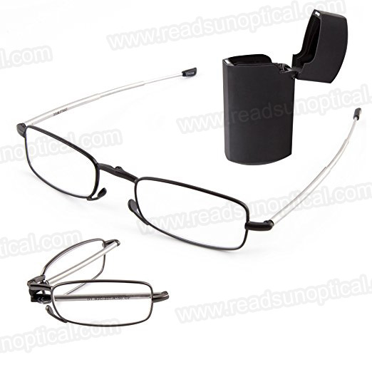 bff2655e4a6f China Pocket with Case Metal Folding Reading Glasses for Reader ...