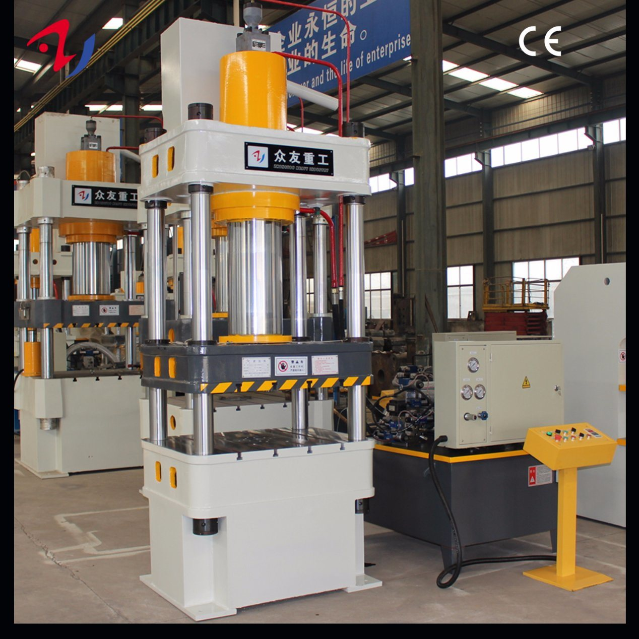 China Four Column 100 Ton Hydraulic Press for Cook Pot with
