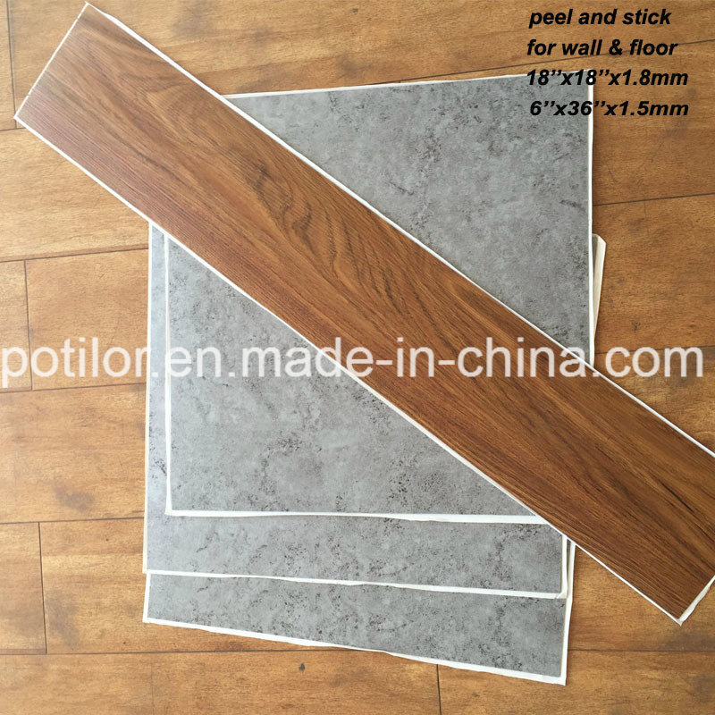China Pvc Self Adhesive Flooring Tiles Peel And Stick Floor