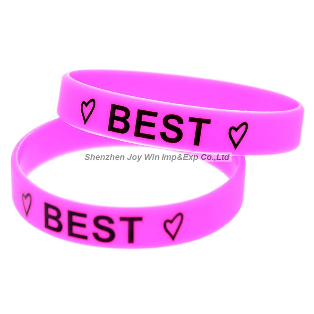 China Silkscreen Silicone Bracelet Best Friends Forever Silicone ...