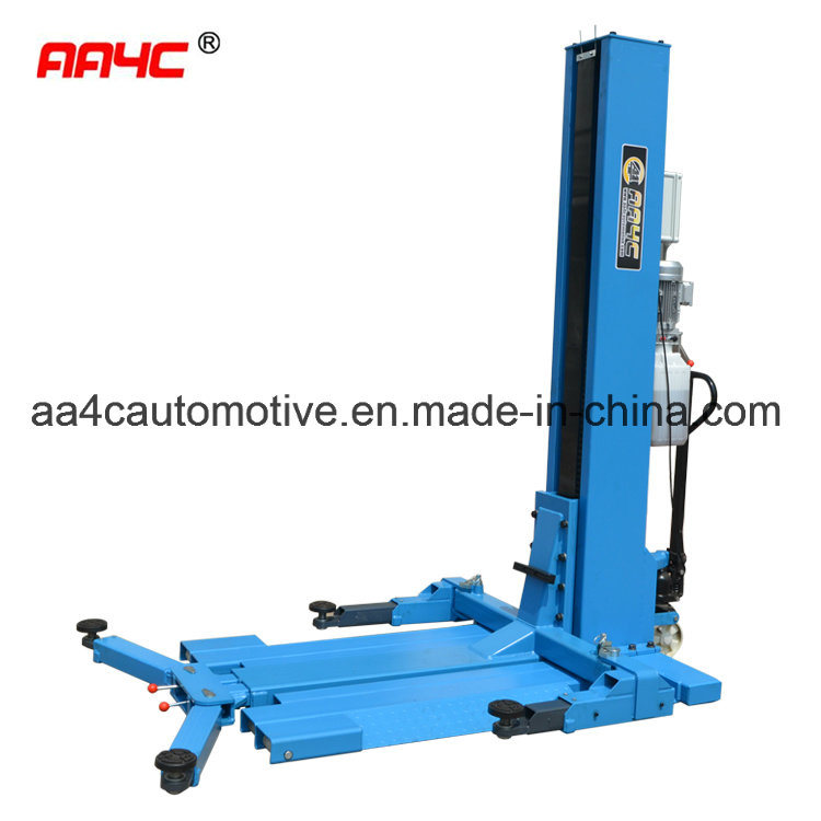China Hydrualic Mobile Single Post Lift