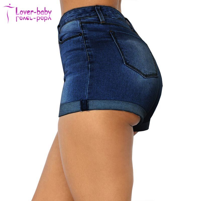 91ea20990e8f36 China Wholesale Stylish Summer Rolled High Waisted Denim Shorts - China Denim  Shorts, Wholesale Jeans