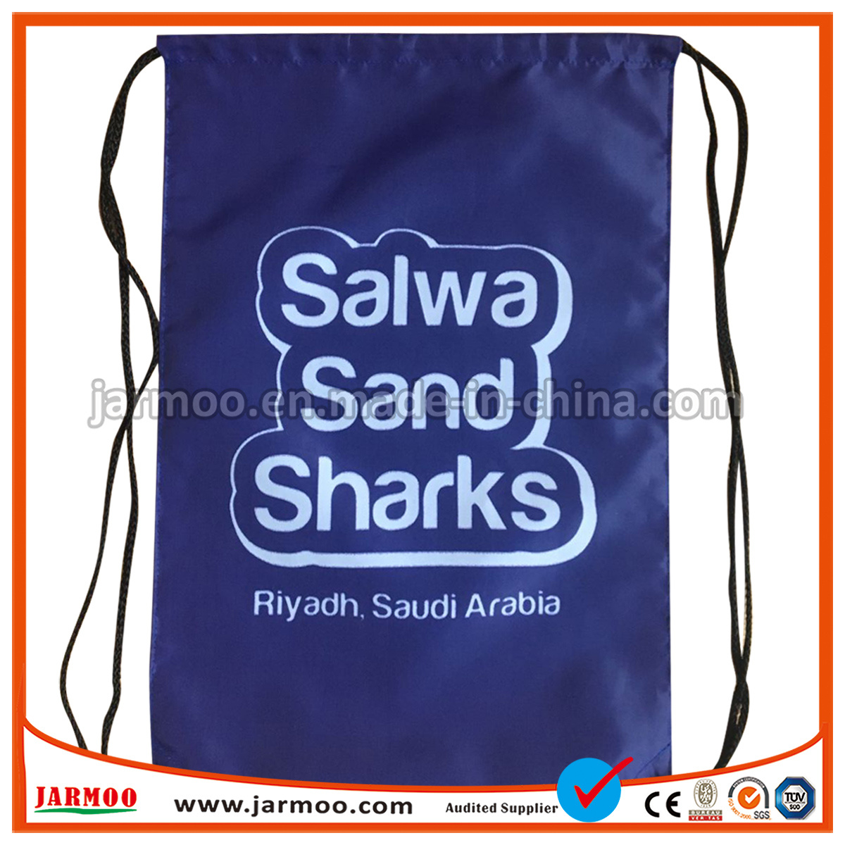 To accept custom print price china suppliers drawstring bag