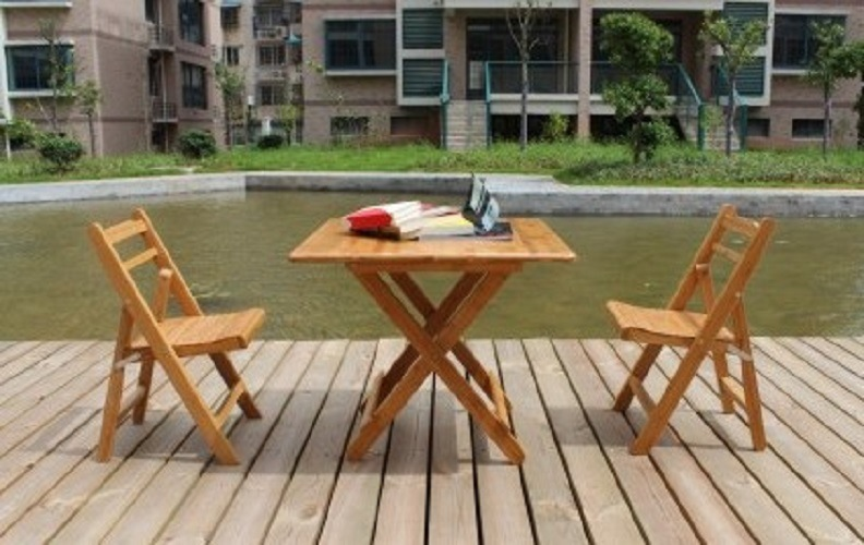 China Bamboo Outdoor Furniture Folding Table And Chair