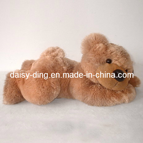 Plush Lying Cute Teddy Bear with Soft New Material