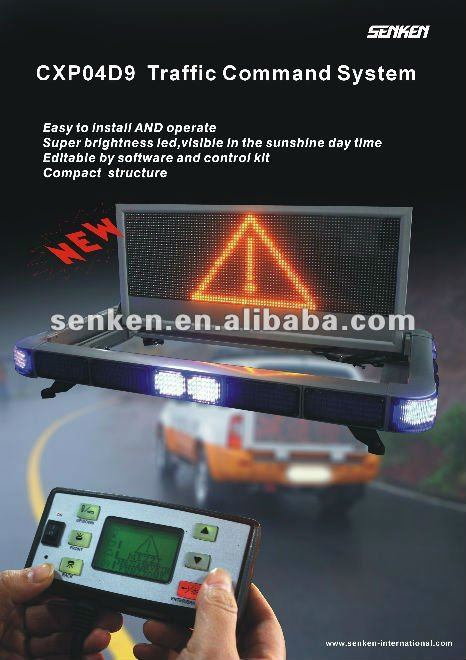 Words Edit Warning LED Light Bar and LED Screen Display pictures & photos