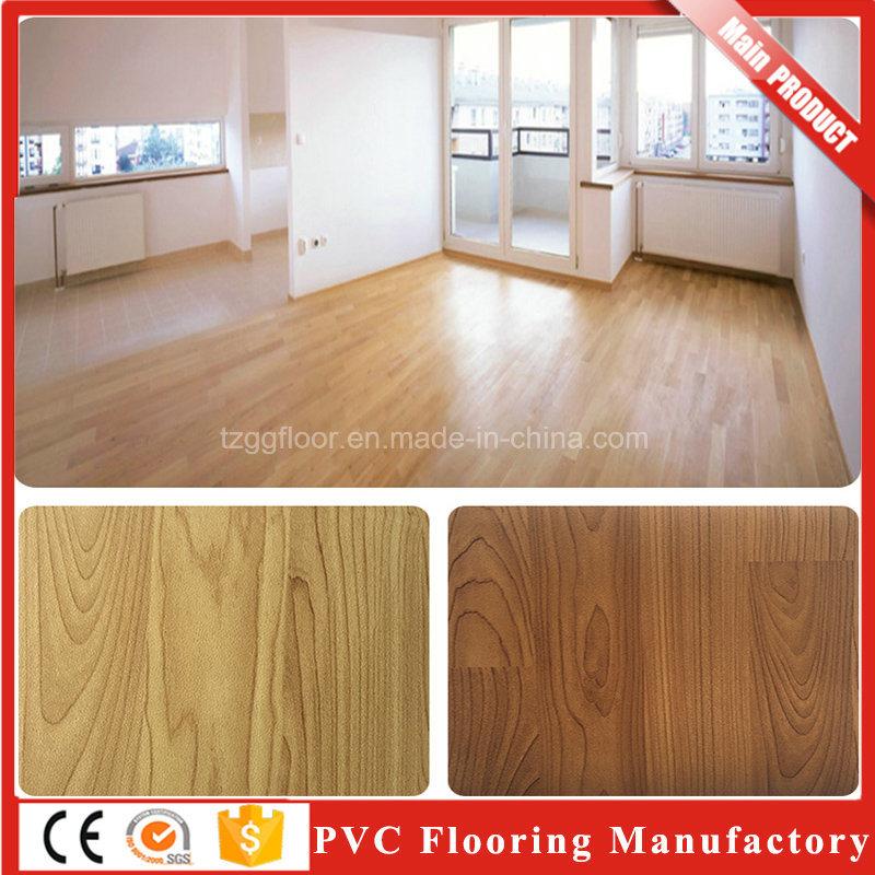 China Commercial Pvc Waterproof Pvc Vinyl Flooring Price Of Wooden