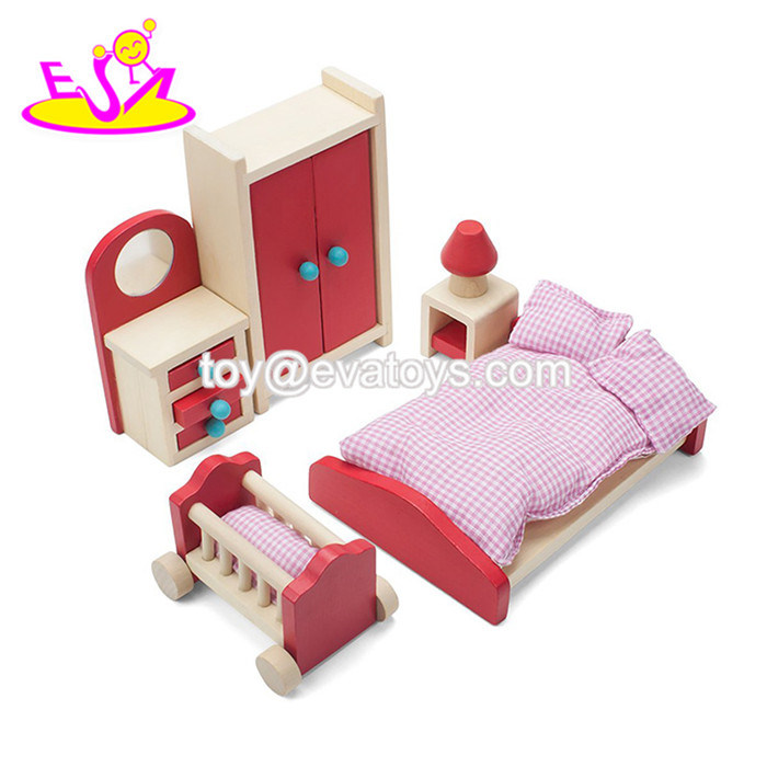 China New Hottest Miniature Wooden Doll Furniture Set For Children