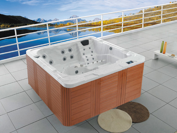China 2.1meters Outdoor Fashion Square Acrylic Jacuzzi Whirlpools   China  Promotion Fashion Whirlpool, Prices Massage Hot Tub