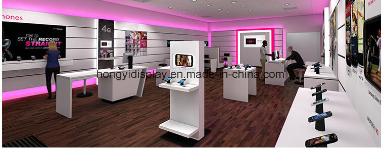 c4d483e97ce00a China Mobile Shop Counter/Mobile Counter Design/Cell Phone Display Fixture  - China Slat Wall, Display Stand