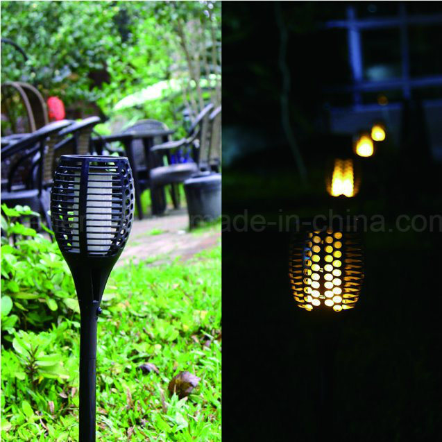 96-LED Solar Powered Dancing Flickering Flame Lamp Torch Lighting Road