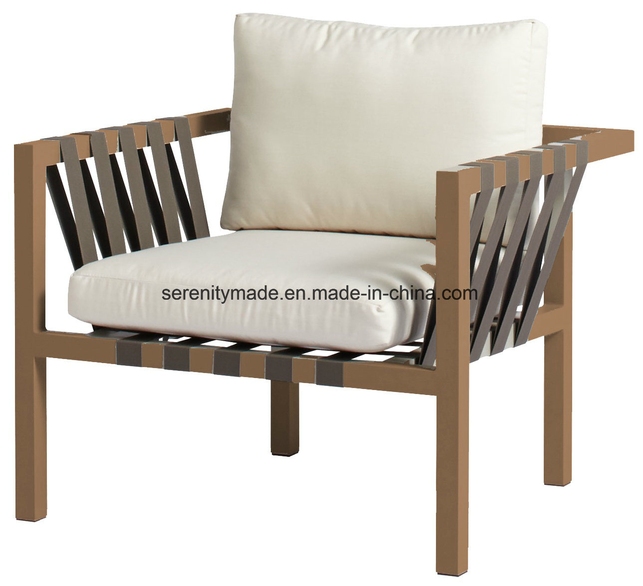 Hot Item Wooden Furniture Stylish Living Room Restaurant Bar Cafe Fabric Padded Wooden Lounge Chair