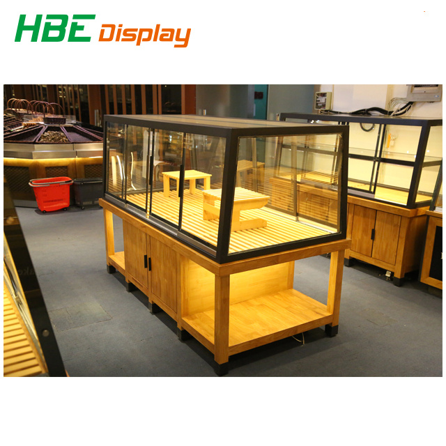 China Super Market Wooden Display Stand For Fruits And Vegetables Fascinating Market Display Stands