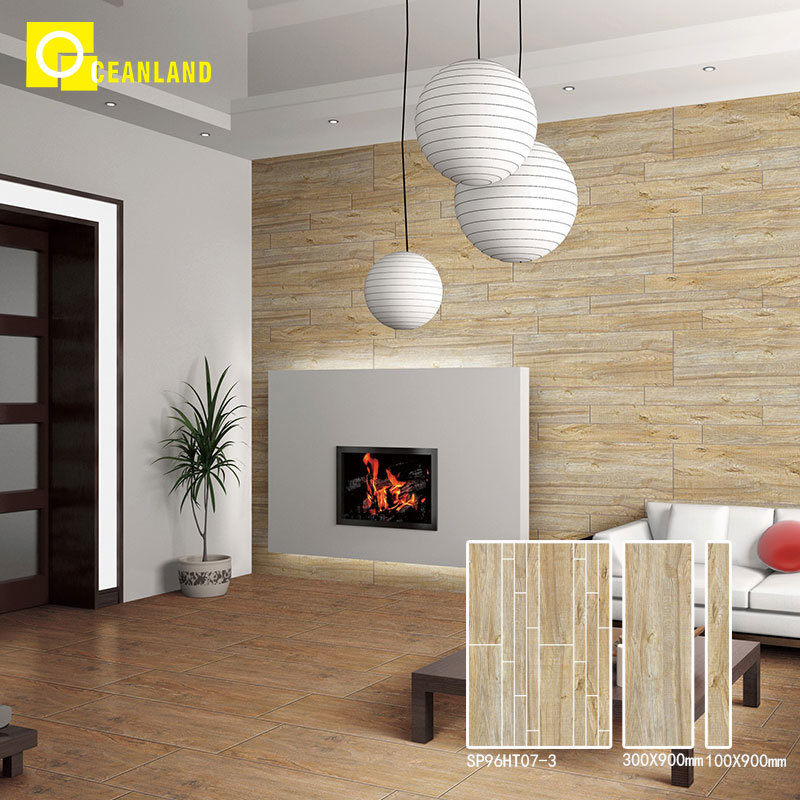 [Hot Item] Japanese Style Natural Wood Living Room Glazed Porcelain Floor  Tile