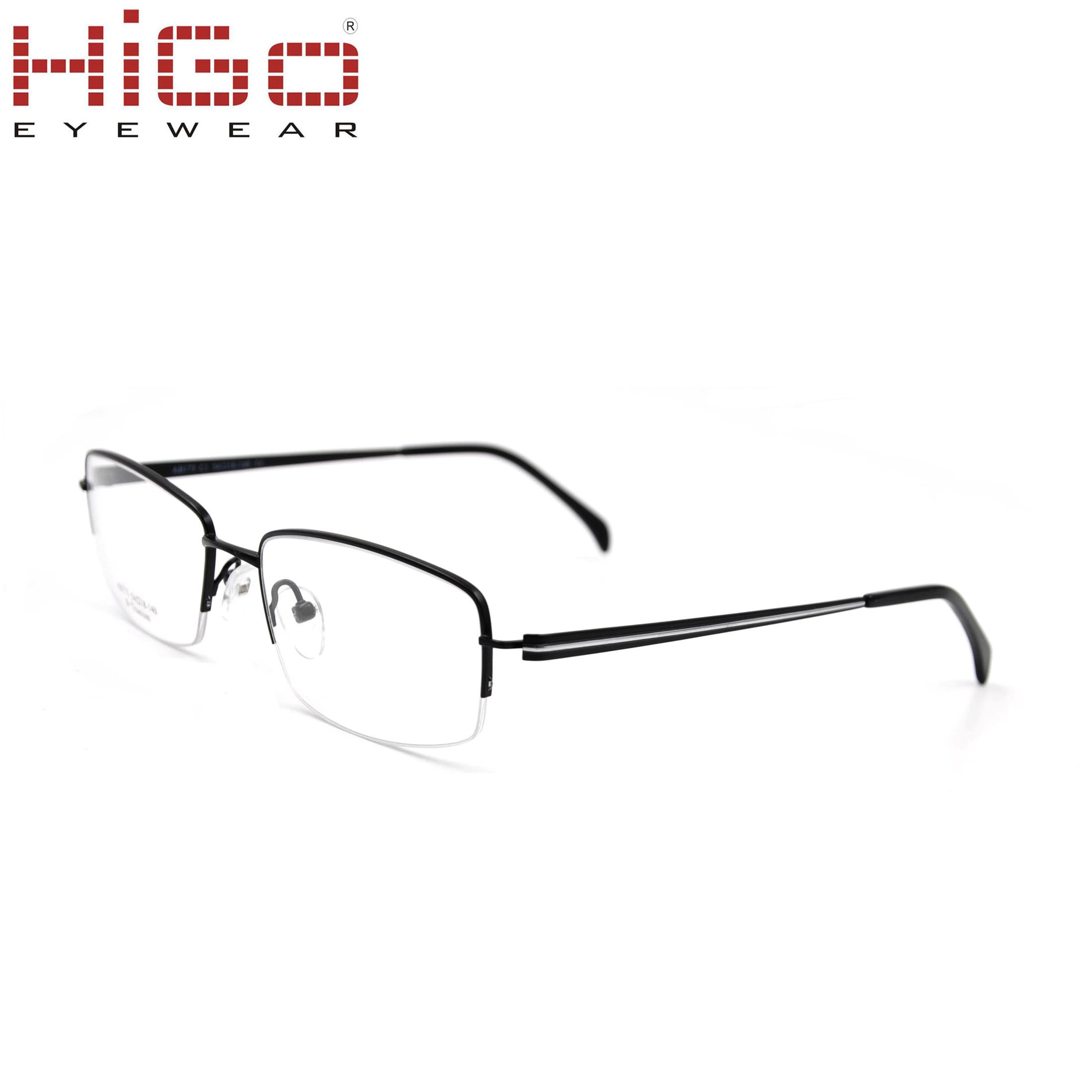 aef21a59f0 China Trending China New Model Half Rim Titanium Eyeglasses Frame ...