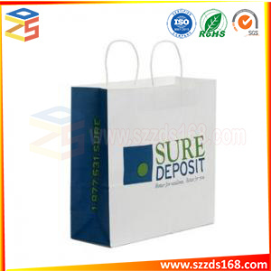 China Oem Custom Design Cheap White Kraft Paper Bag For Shopping