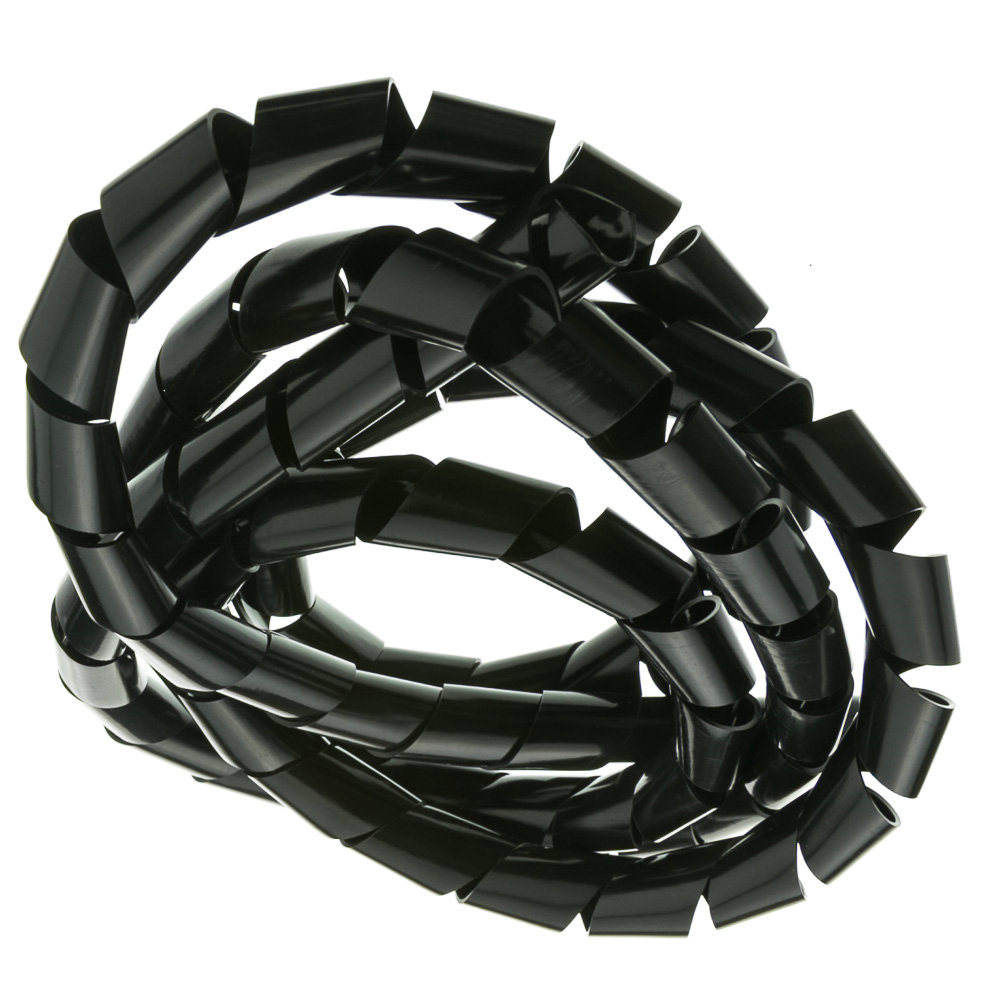 China RoHS Black Color PE Spiral Wire Wrap - China PE Spiral Cable ...