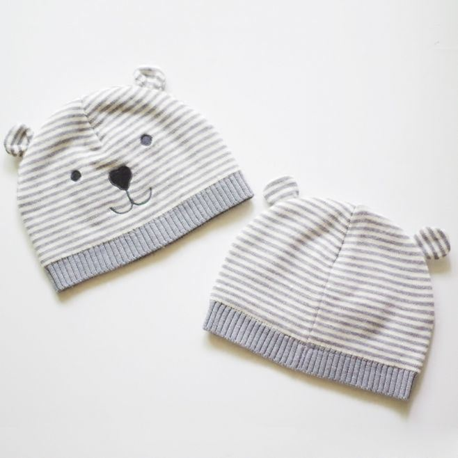 d09d14112 [Hot Item] Winter 100% Acrylic Warm Baby Knit Hat with Bear Ears