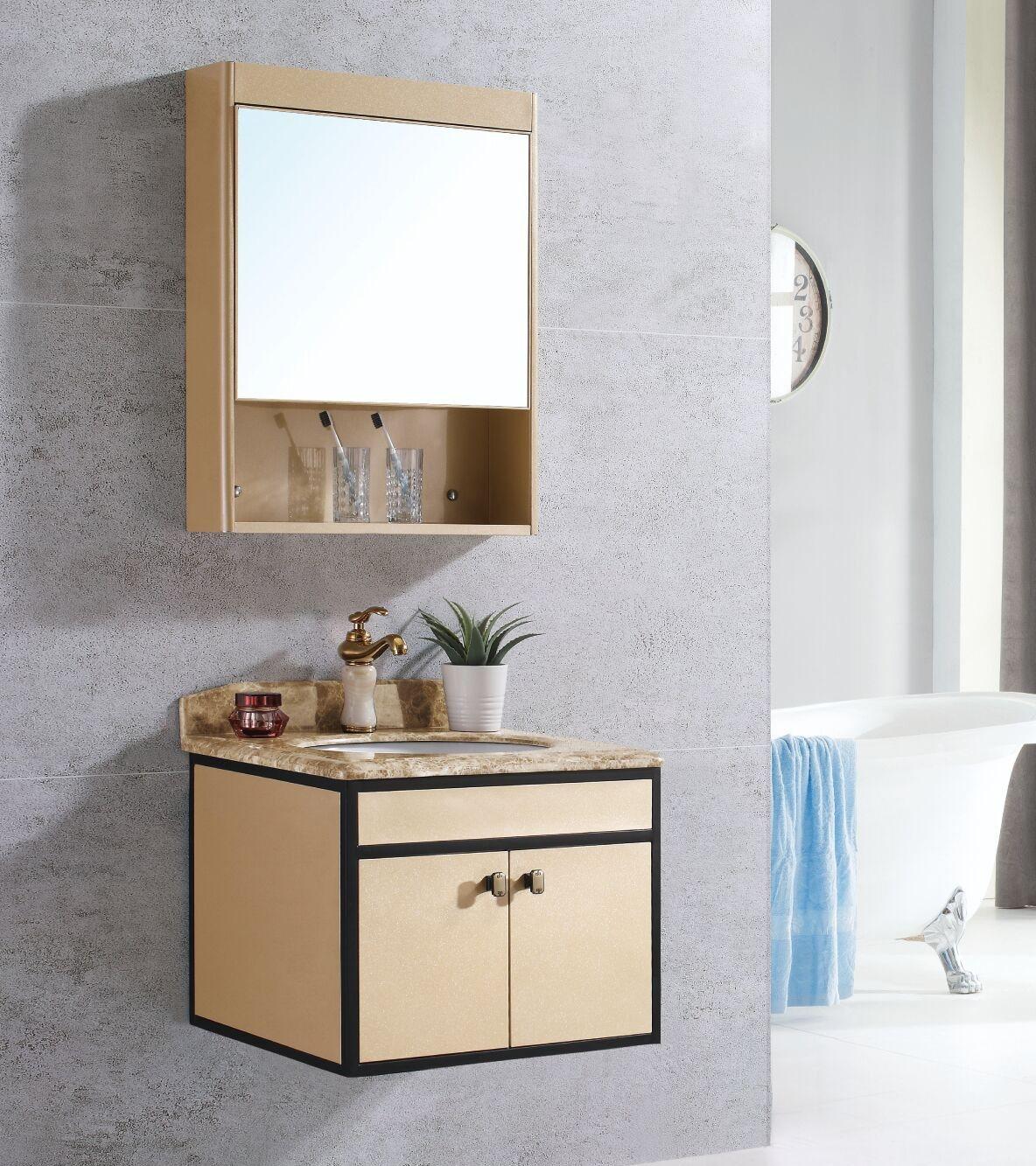 China Hot Sale Good Quality Bathroom Furniture Cabinet Aluminium Bathroom Vanity Cabinet As 1136 China Bathroom Cabinet Bathroom Vanity