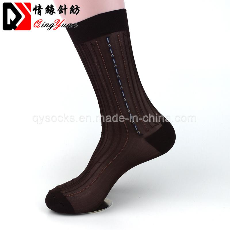 5743c2f16 High Quality Wholesale Women Custom Design Crew Silk Stockings Socks