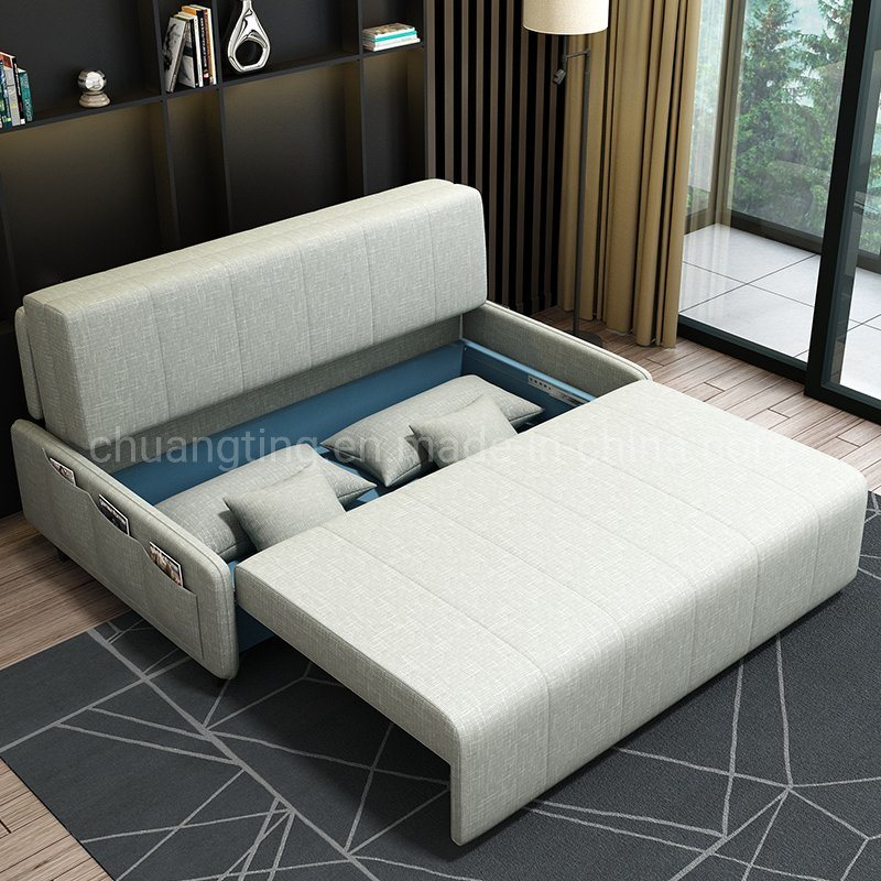 China Fabric Folding Bed Sofa Living, Queen Size Folding Sofa Bed