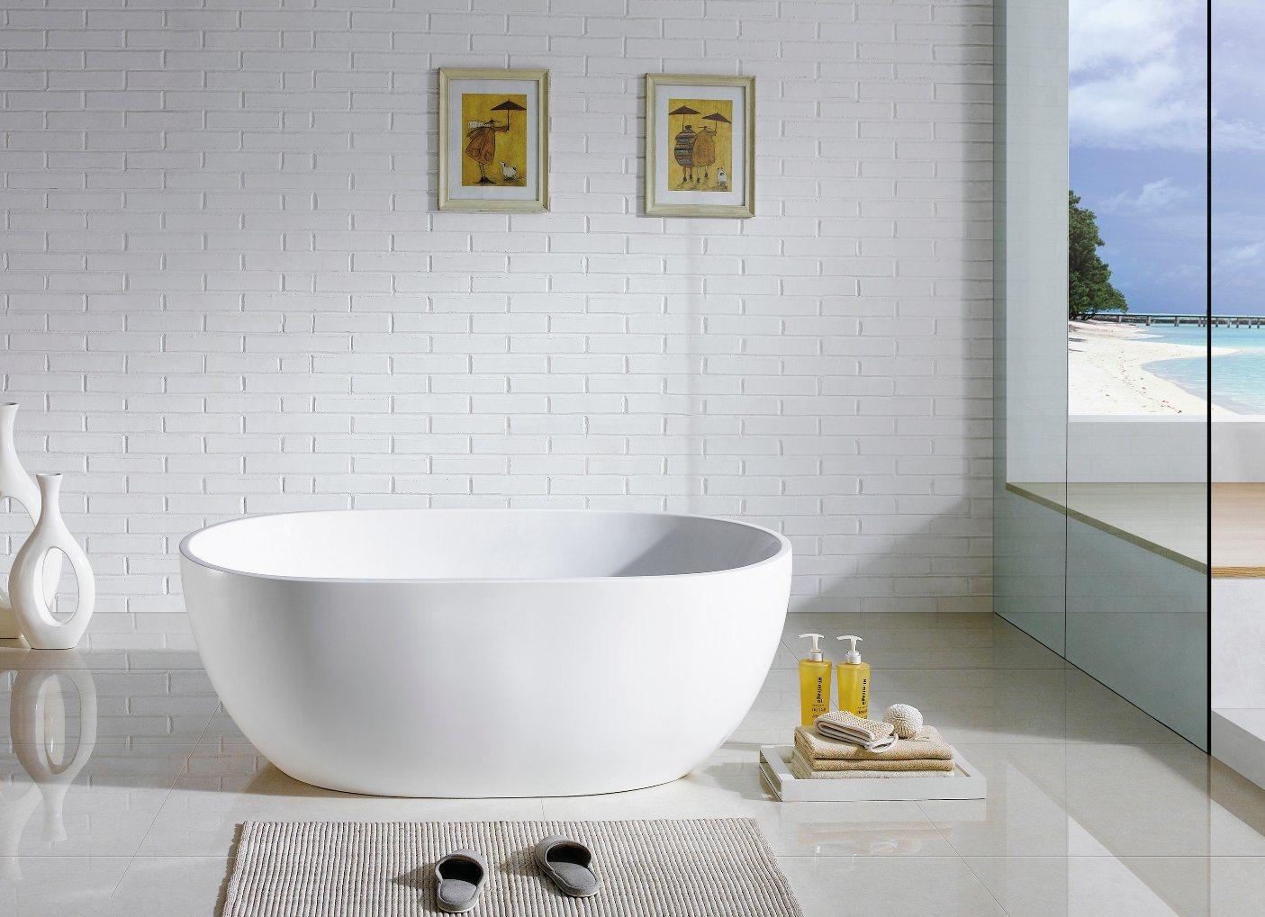 China Morden Bathrooms Hot Oval Freestanding Acrylic&Resin Bath Tub ...