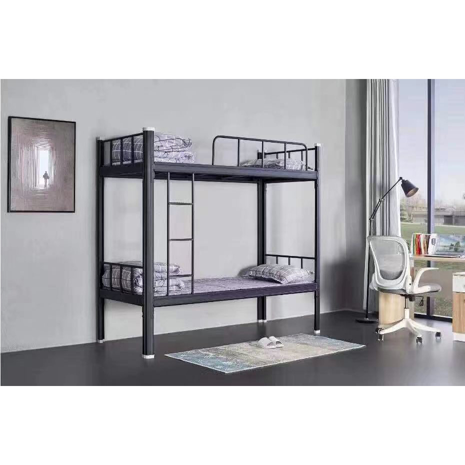 China Bedroom Furniture Metal Frame Dormitory Students Steel Apartment Bunk Bed China Disassemble Bunk Bed Dormitory Bed