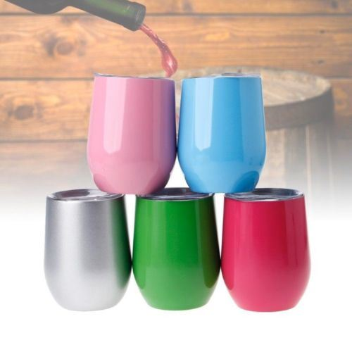 42da335c9a0 [Hot Item] Customized Print Logo Coffee Mug 9 Oz Stainless Steel Cup Water  Bottle Beer Mugs Wine Glass Tumbler Drink Ware Mug with Lid Copo Color Egg  ...