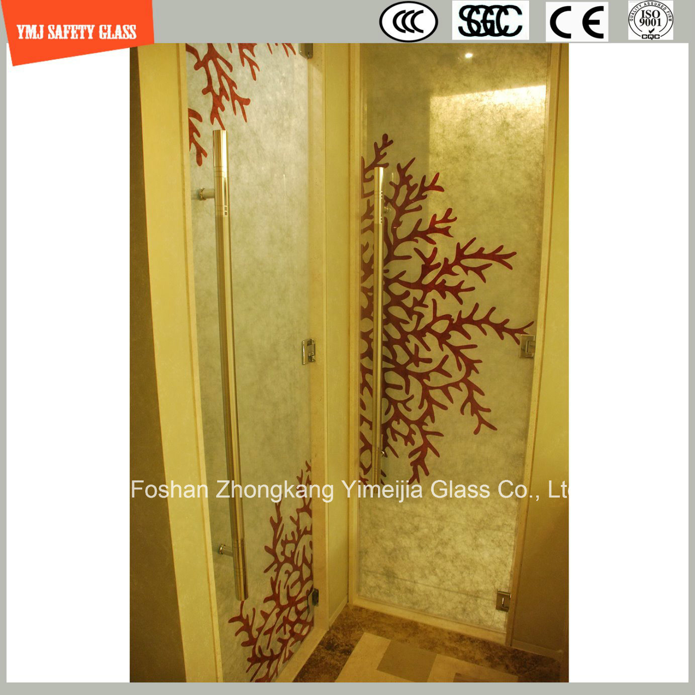 China 6mm-20mm Laminated Glass with Fabric/Leather Interlayer with ...