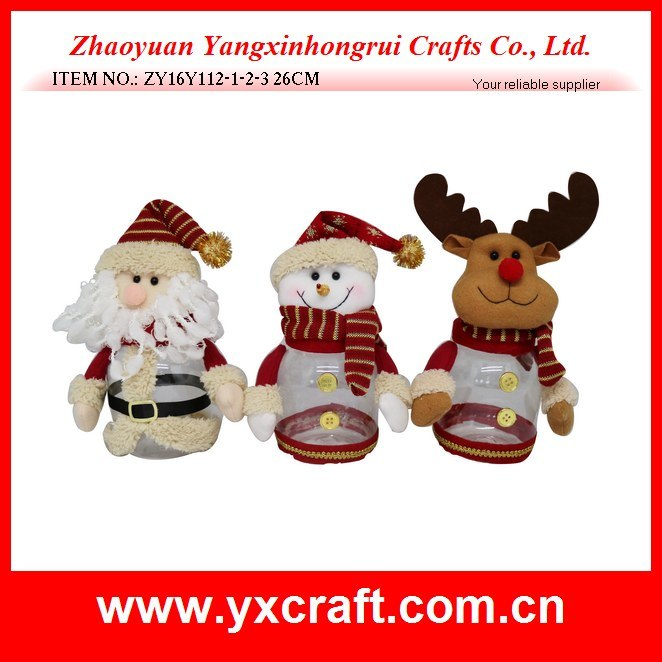 Christmas Decoration (ZY15Y149-1-2) Christmas Wholesale Gift Fabric Storage Basket